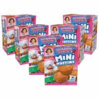 Strawberry Shortcake Rolls Mini Muffins, 6 Boxes, 30 Travel Pouches of Bite Size Muffins - 30