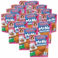 Strawberry Shortcake Rolls Mini Muffins, 12 Boxes, 60 Travel Pouches of Bite Size Muffins - 60