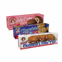 Creme Pie Variety Bundle - Chocolate Chip, Oatmeal, and Jelly - 2 Boxes Each of Creme Pie - 56