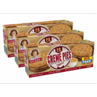 Peanut Butter Creme Pies, 3 Big Pack Boxes, 18 Individually Wrapped PB Sandwich Cookies - 18