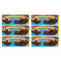 Cosmic Brownie Big Packs, 6 Boxes, 72 Individually Wrapped Brownies with Chocolate Chip Candy - 72