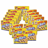 Fig Bars, 16 Boxes, 128 Individually Wrapped Chewy Cookies with Real Fig Filling - 128