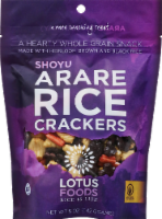Lotus Foods Shoyu Arare Rice Crackers