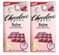 Chocolove Ruby Cacao bar 3.1 Ounce (Pack of 2) - 2 Bar/3.1 Ounce