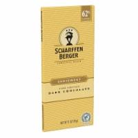 SCHARFFEN BERGER 62% Cacao Semisweet Dark Chocolate Bar, 3 Ounce (Pack of 1) - 1 Bar/3 Ounce