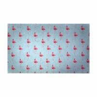 Betsy Drake DM084SG 30 x 50 in. Flamingo Santa Floor Mat - 1