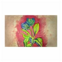 Betsy Drake DM342G 30 x 50 in. Tulips in Peach Door Mat