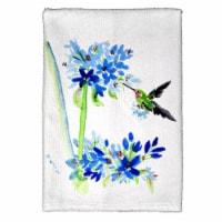 Betsy Drake KT808 16 x 25 in. Hummingbird & Blue Flower Kitchen Towel - 1