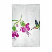 Betsy Drake KT940 Purple Hummingbird Kitchen Towel - 1