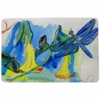 Betsy Drake DM813 Yellow Bells & Dragonfly Door Mat - 18 x 26 in.