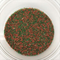Christmas Sanding Sugar Red Green Blend Topping Sprinkles 1 pound colored sugar - 1 pound