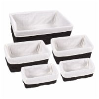 5-Piece Utility Storage Nesting Wicker Basket Organization For Kitchen/Bathroom