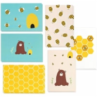 48 All Occasion Assorted Blank Greeting Card Honey Bear Design w/Envelope 4 x6 - PACK