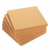 6-Pack Square Cork Trivet Set -  Kitchen Hot Pads for Hot Pots, Pans, 7 x 7 x 0.5 Inches