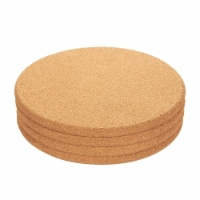 4-Pack Round Cork Trivet Set - Hot Pads for Hot Pots, Pans, 9 x 9 x 0.5 Inches - Pack