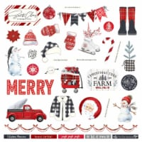 """Christmas Cheer Stickers 12""""X12""""-Elements - 1"""