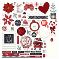 PhotoPlay Collection Card Kit Stickers-Christmas Cheer - 1