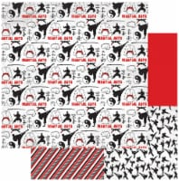 """Martial Arts Double-Sided Cardstock 12""""X12""""-Sparring - 1"""