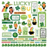 Tulla & Norbert's Lucky Charm Stickers 12 X12 -Elements - 1