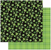 Tulla & Norbert's Lucky Charm Double-Sided Cardstock 12 X12 -Four Leaf Clover - 1