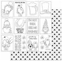 """Tulla & Norbert's Lucky Charm Double-Sided Cardstock 12""""X12""""-Color Me - 1"""