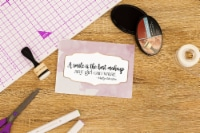 Crafter's Companion Clear Acrylic Quirky Stamp-Best Makeup - 1