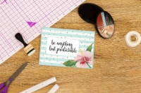 Crafter's Companion Clear Acrylic Quirky Stamp-Anything But Predictable - 1
