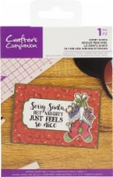 Crafter's Companion Clear Acrylic Quirky Stamp-Sorry Santa - 1