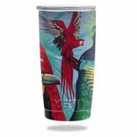 MightySkins YERAM20-Parrot Paradise Skin for Yeti 20 oz Tumbler - Parrot Paradise - 1