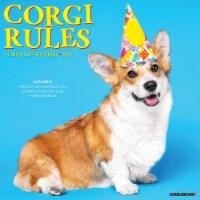 Corgi Rules 2022 Wall Calendar (Dogs) - 1