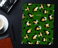 Leopard Print 2022 8.5  x 11  Softcover Weekly Large Planner - 1