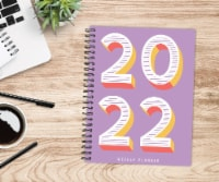 Plum Year 2022 6.5  x 8.5  Softcover Weekly Planner - 1