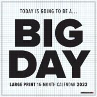 Big Day 2022 Large Print and Grid Wall Calendar - 1