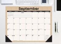 Modern Geometric 22  x 17  Monthly Deskpad - 1