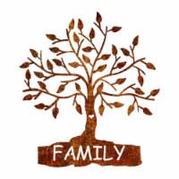 Precision Metal Art FAMILYTREE-18PAT 18 in. Home Family Tree Steel Laser Cut Wall Art in Shin - 1