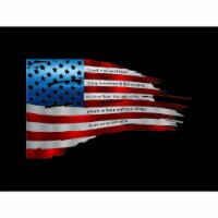 Central Coast Designs TATTEREDFLAG2ND-24PAINTED 12 x 24 in. Tattered Color American Flag with - 1