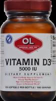Olympian Labs Vitamin D3 Softgels 5000 IU 100 Count