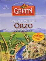 Gefen Whole Wheat Orzo