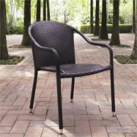 Palm Harbor Wicker Patio Stackable Chair in Brown (Set of 4) - Crosley - 1
