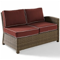 Bradenton Outdoor Wicker Sectional Right Loveseat with Sangria Cushions - Crosley - 1