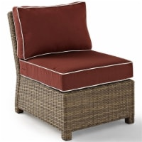 Bradenton Outdoor Wicker Sectional Center Chair with Sangria Cushions - Crosley