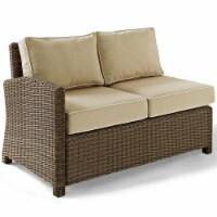 Bradenton Wicker Sectional Loveseat with Sand Cushions - Crosley