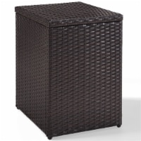 Palm Harbor Outdoor Wicker End Table in Brown - Crosley