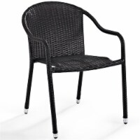 Palm Harbor Outdoor Wicker Chairs in Brown (Set of 2) - Crosley - 1
