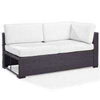 Biscayne Upholstery Patio Loveseat in White-Crosley