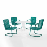 Bates 5Pc Outdoor Dining Set - Turquoise Gloss
