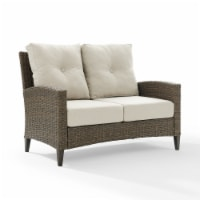 Rockport Outdoor Wicker High Back Loveseat - Oatmeal