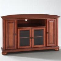Alexandria 48  Corner TV Stand in Classic Cherry - Crosley - 1