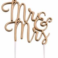 Lillian Rose CT300 G Mr.& Mrs. Wedding Cake Topper - Gold