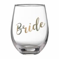 Lillian Rose G115 BR Gold Bride Stemless Wine Glass